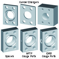 Spacers, Gauge Port Adapters, Gender Changers